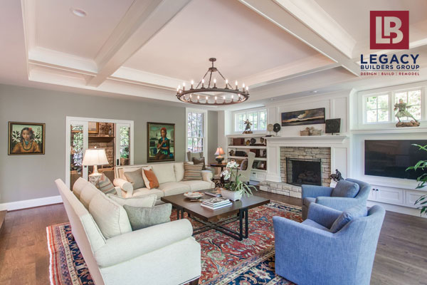 coffered ceiling adds wow factor to interior renovation